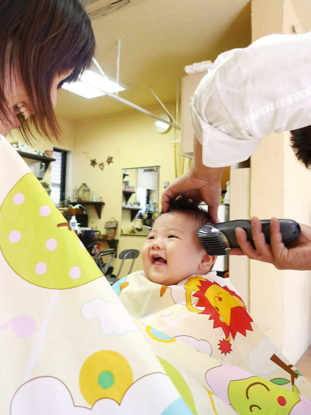 参考写真 - 赤ちゃんヘアカット