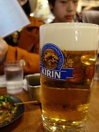 昼からビール!